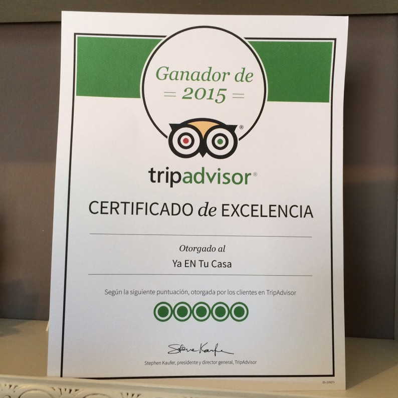 Yaentucasa win the Excellence Certificate 2015