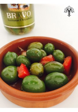 SPANISH GREEN OLIVES CHUPADEDOS MALAGA BRAVO