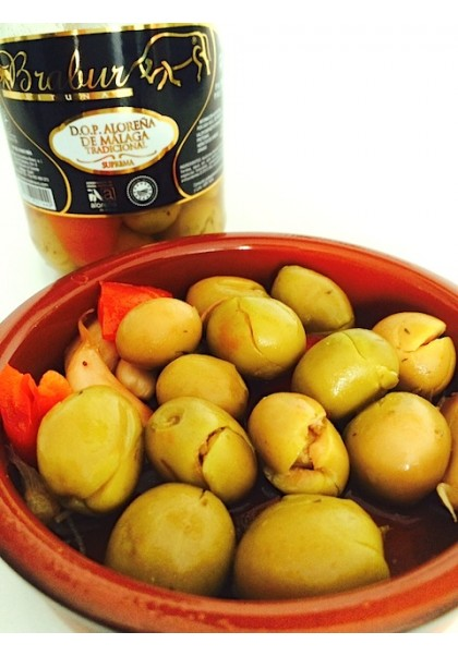 "SPANISH OLIVES HIGH QUALITY ALOREÑA ""BRABUR"""