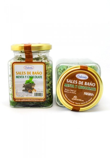 NATURAL BATH SALT MINT AND CHOCOLATE